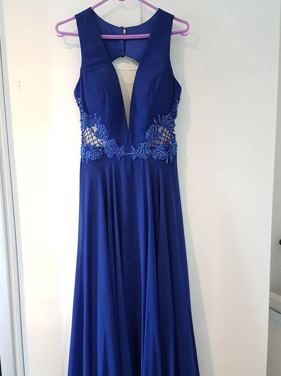 Feira do vestido de festa azul royal