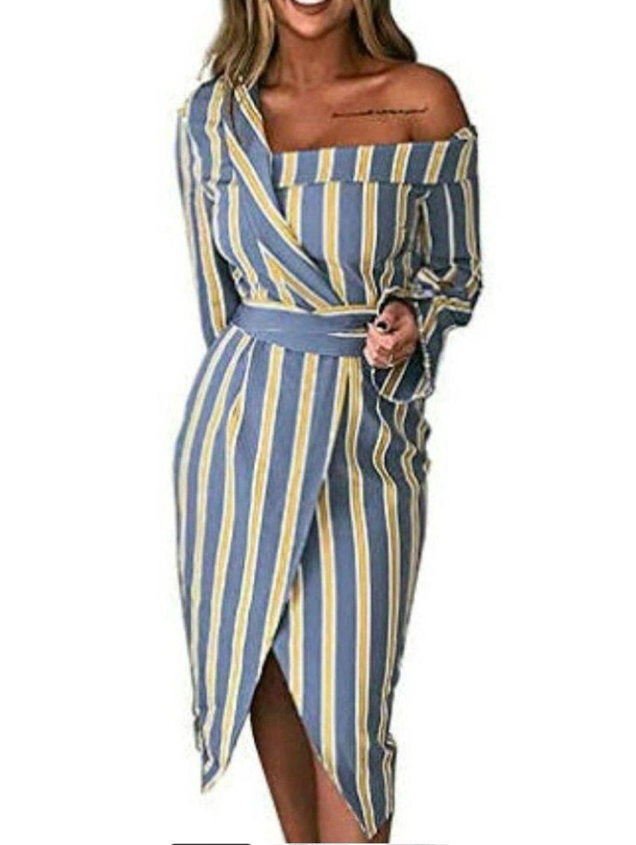 vestido transpassado chamise - vestidos cbr