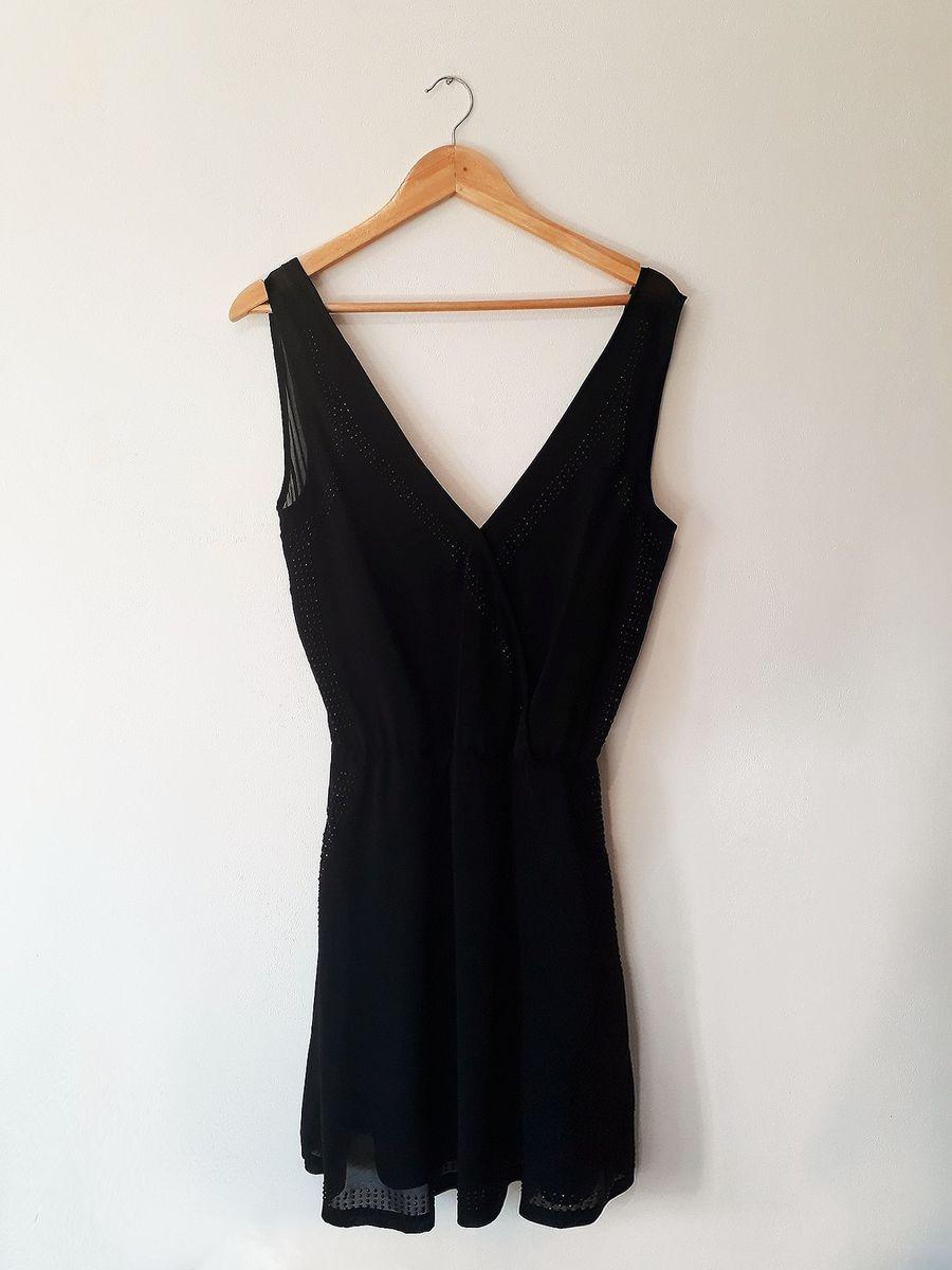 vestido transpassado preto botswana - vestidos botswana