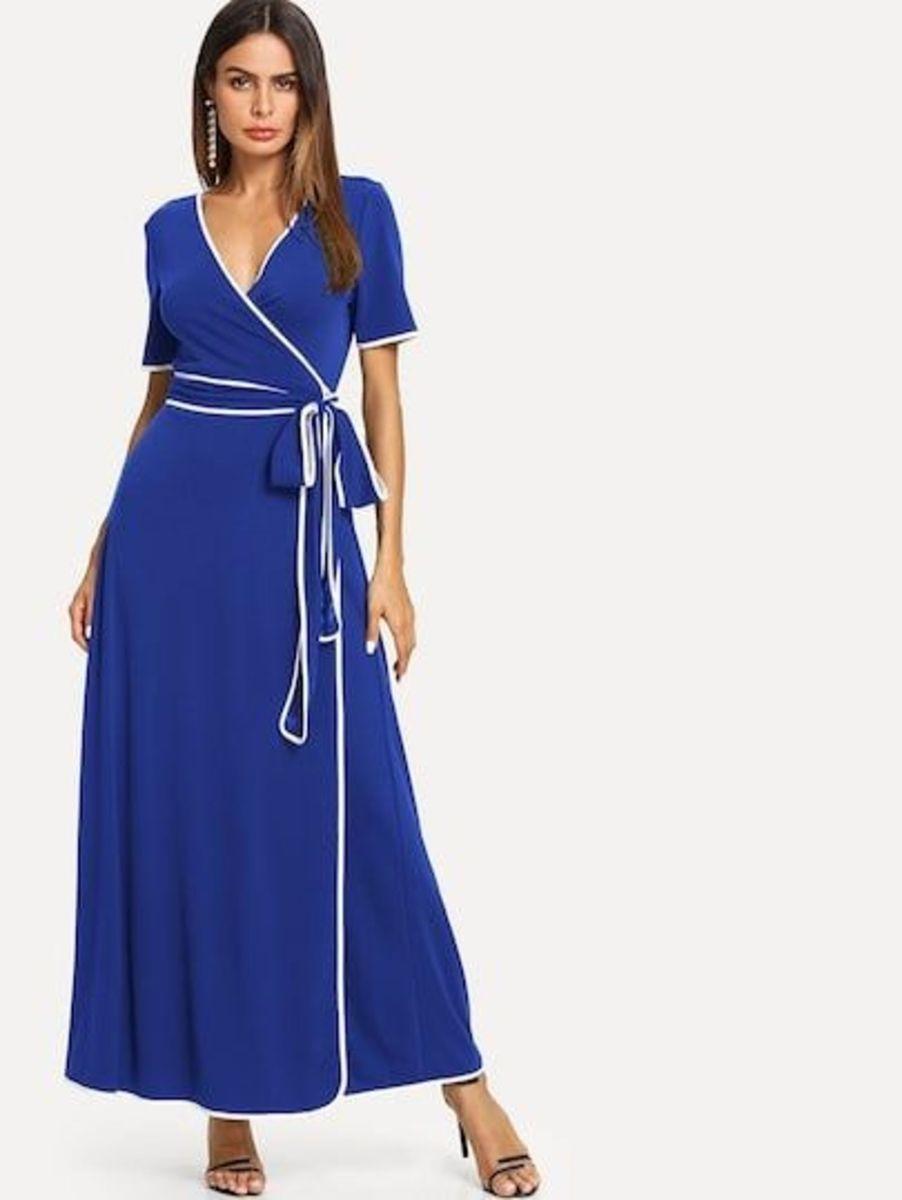 vestido transpassado - vestidos fancy-store