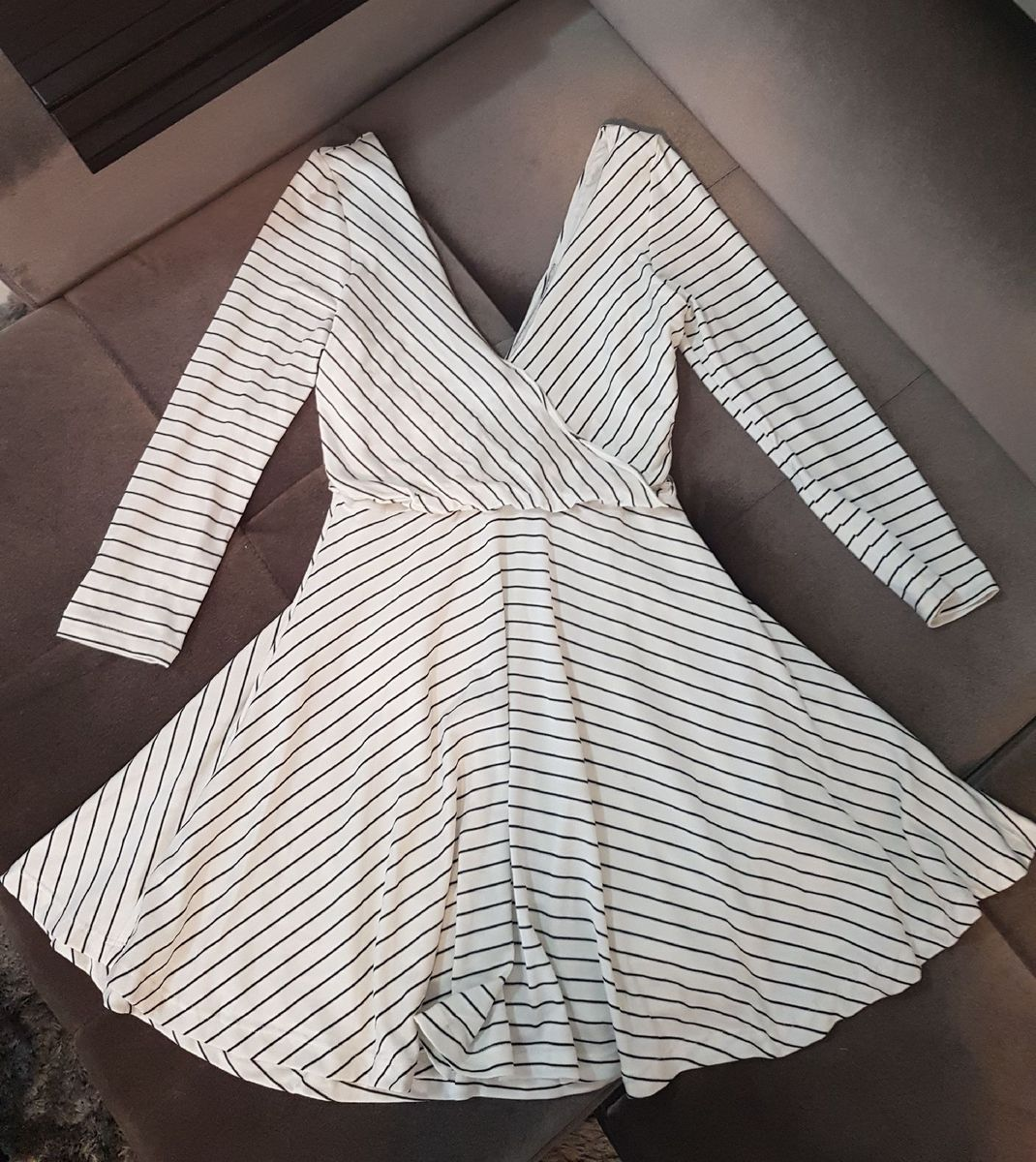 0c96f45ee1 vestido tricot listrado fashion up - vestidos fashion-up
