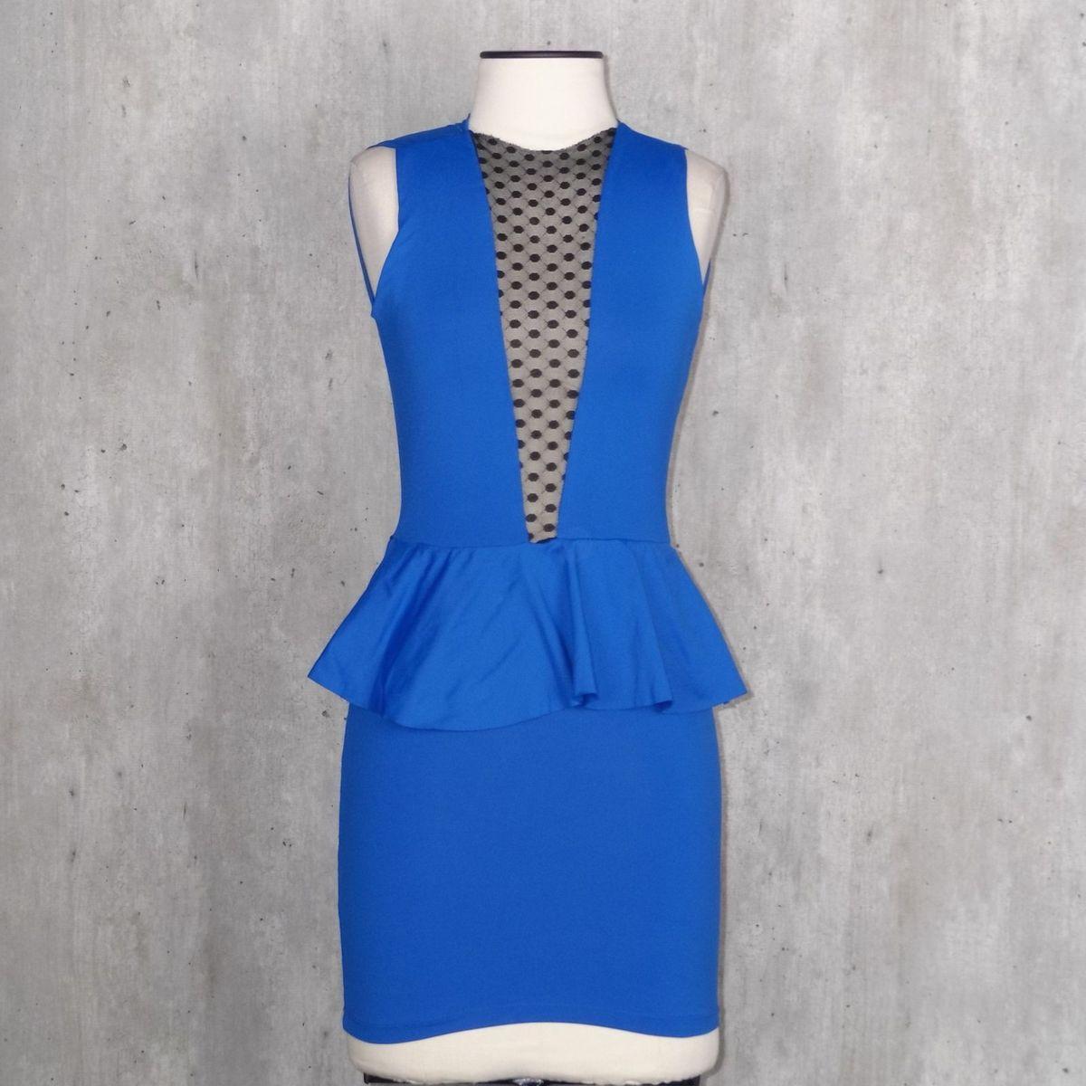 ebdc9b3b89 Vestido Tubinho Azul