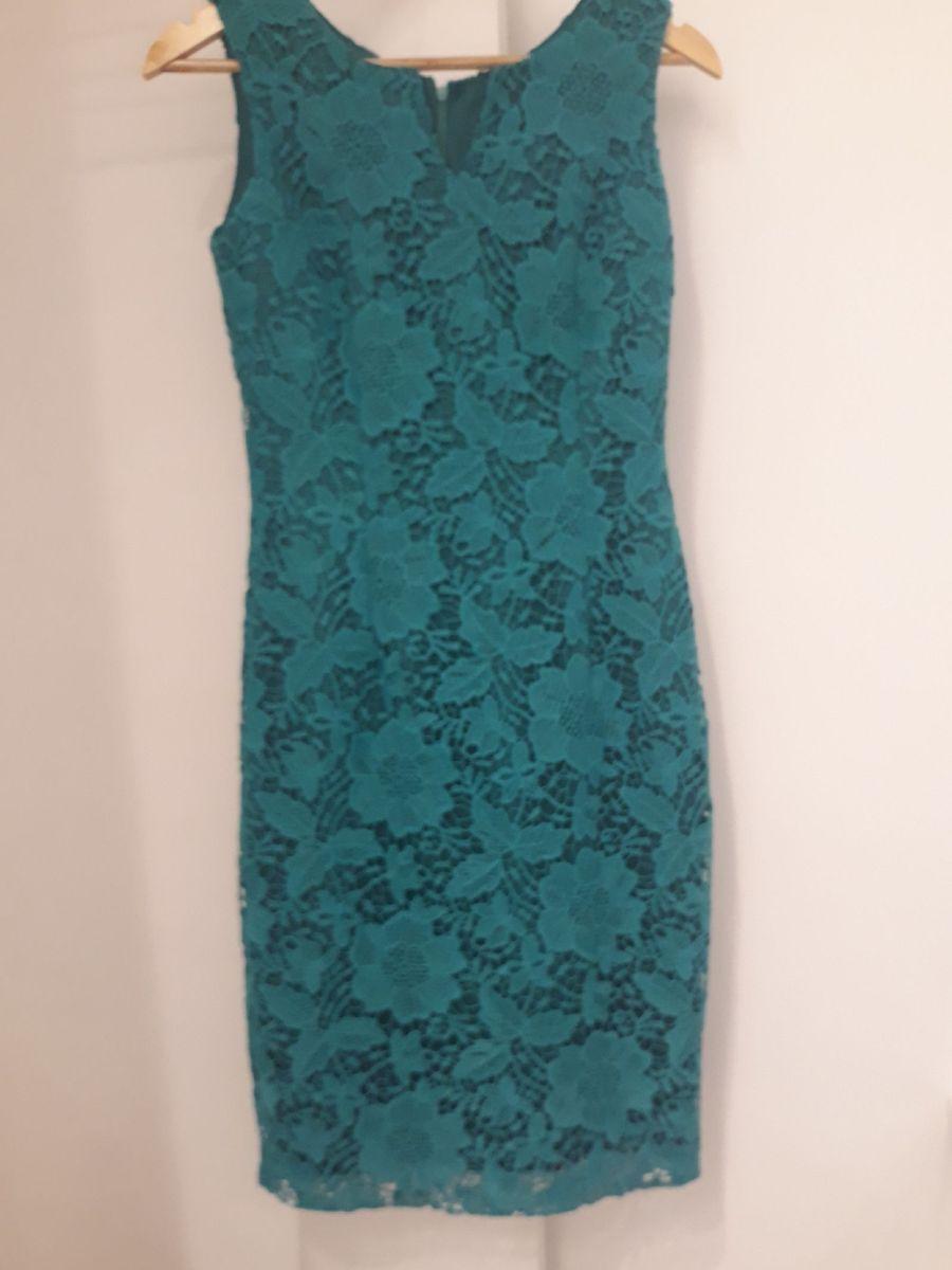 393a58772f vestido tubinho renda guipir verde água - vestidos sem marca