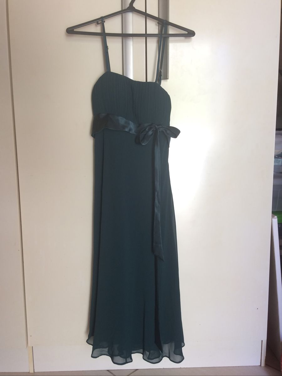 Vestido Verde Escuro Festa