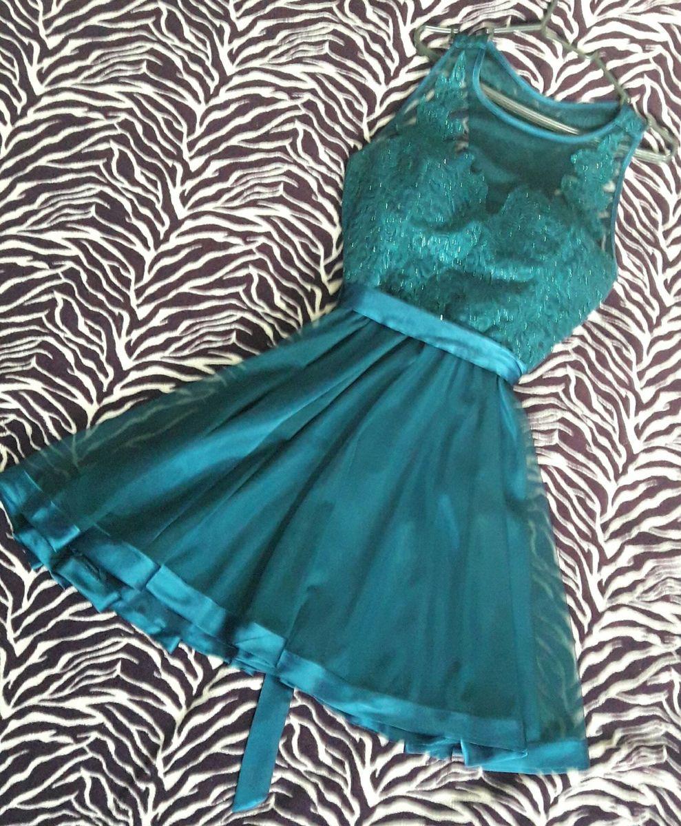49717d1563 vestido verde petróleo formatura casamento - vestidos de festa gowara
