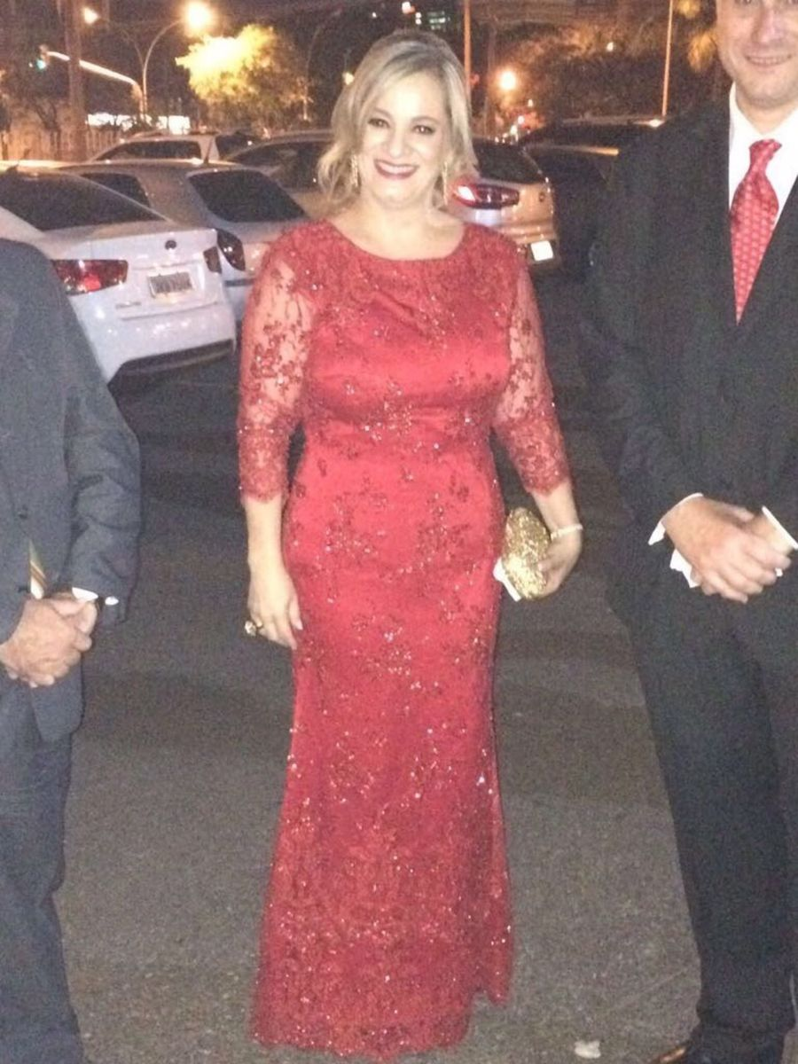 36ccd6c0e Vestido Vermelho Casamento | Vestido de Festa Feminino Usado ...