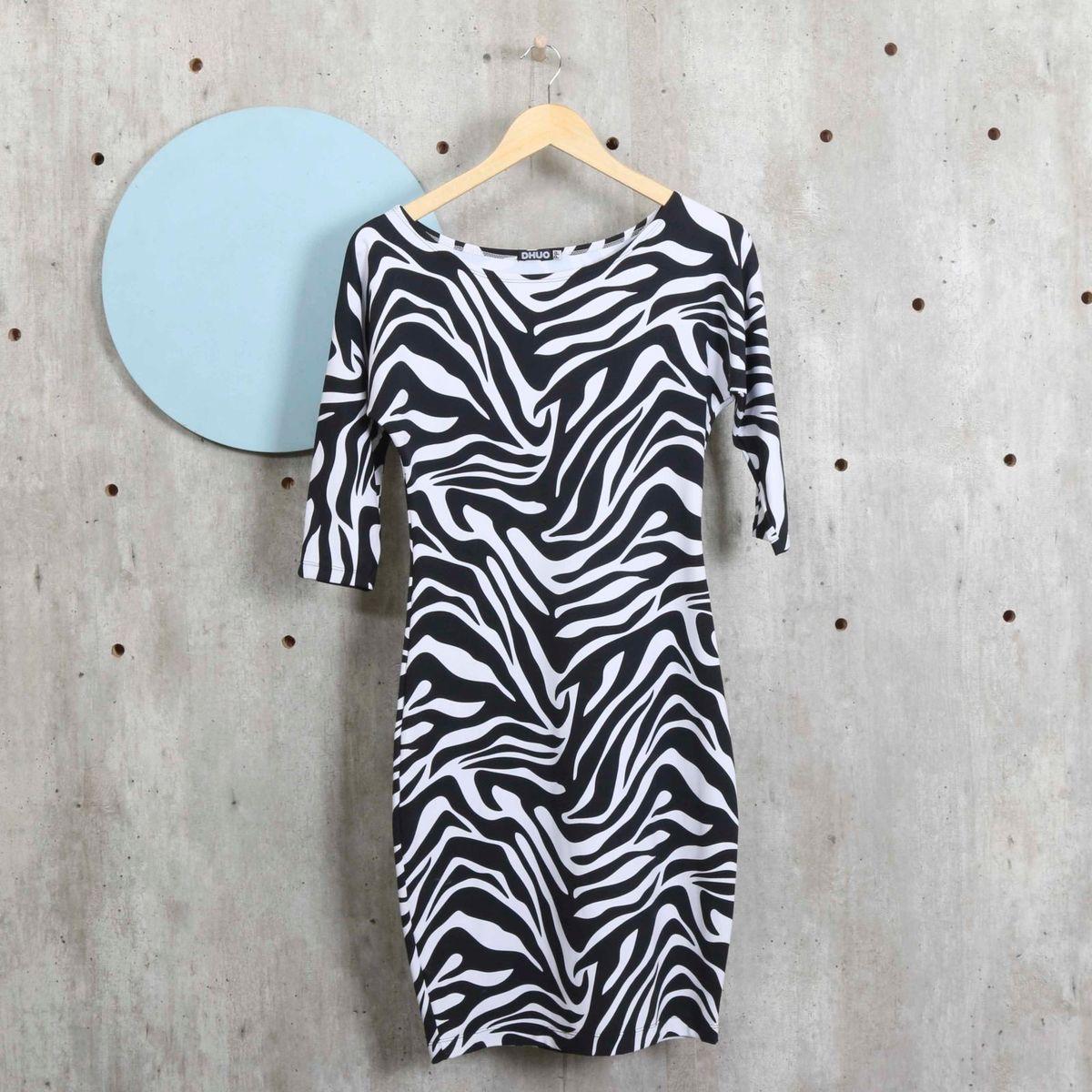 33b7d9a7b8 Vestido Zebra