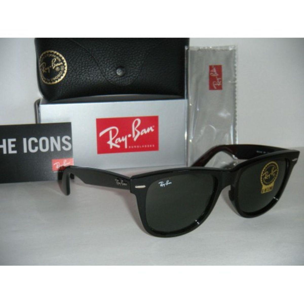 wayfarer preto grande - óculos ray-ban.  Czm6ly9wag90b3muzw5qb2vplmnvbs5ici9wcm9kdwn0cy8xmdyxotg1lzzhzjmyztviotfmndc4y2i0yzg3y2ywotawngvlmzexlmpwzw  ... e95c413408